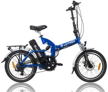 Load image into Gallery viewer, Folding Electric Bike Leitner SuperT Blue