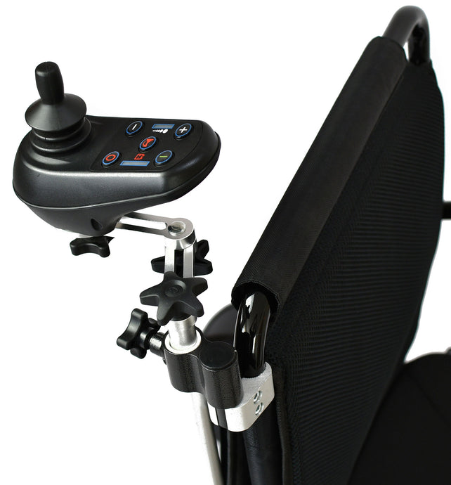 Adjustable Joystick Backrest Attachment For Leitner Electric Wheelchairs