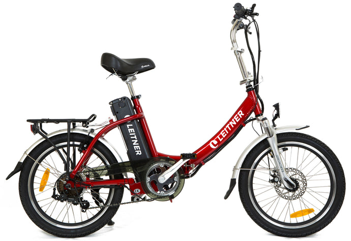 Folding Electric Bike Leitner Libelle Red