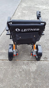 ORANGE Discounted Folding Electric Wheelchair | Leitner BILLI | Signs of usage