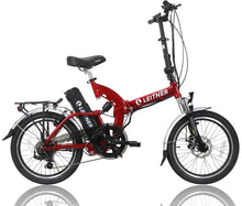 Load image into Gallery viewer, Folding Electric Bike Leitner SuperT Red