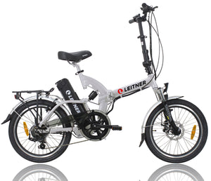 Folding Electric Bike Leitner SuperT Silver