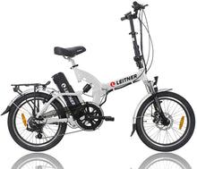 Load image into Gallery viewer, Folding Electric Bike Leitner SuperT White