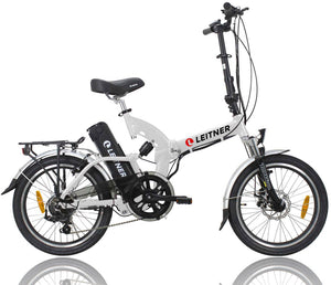 Folding Electric Bike Leitner SuperT White