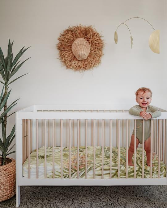 PALMS COT SHEET - STUCK ON IVY X SAVANNAH AND THREE