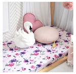 Fitted Cot Sheet - Floral Kiss
