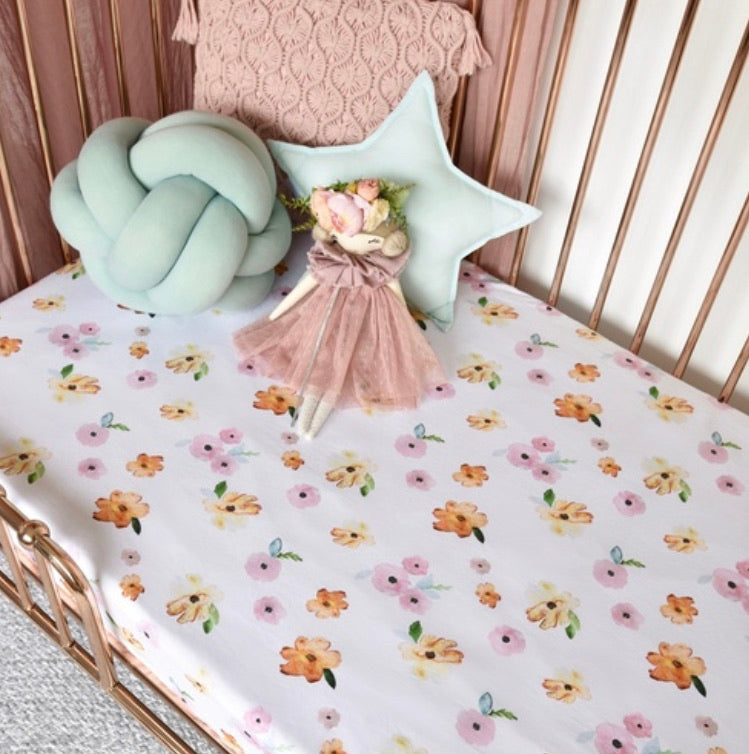 Poppy | Fitted Cot Sheet