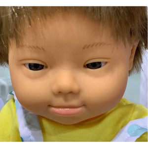 Miniland Down Syndrome Brunette Boy - 38cm