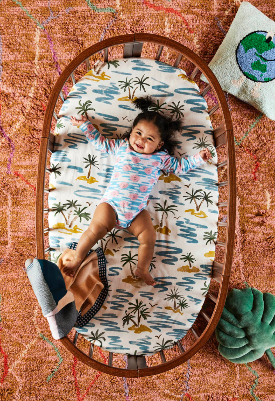 Castaway Fitted Bassinet Sheet