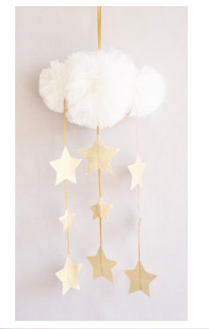Tulle Cloud Mobile Ivory & Gold