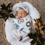 Snuggle Swaddle + Beanie Set - Shipwrecked