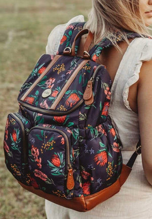 OiOi  Nappy Backpack - Botanical Floral