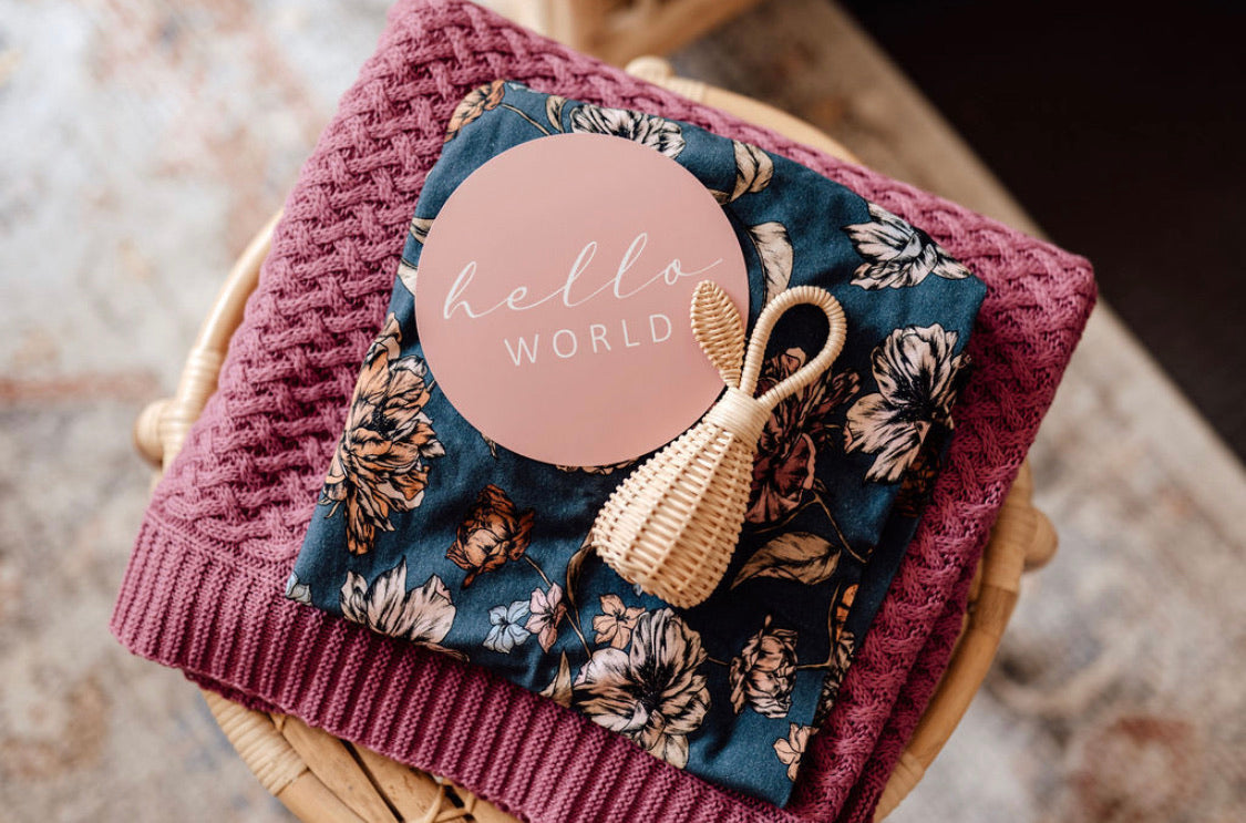 Belle & Rose Gold Reversible Milestone Cards