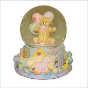 Bear Music Snow Globe
