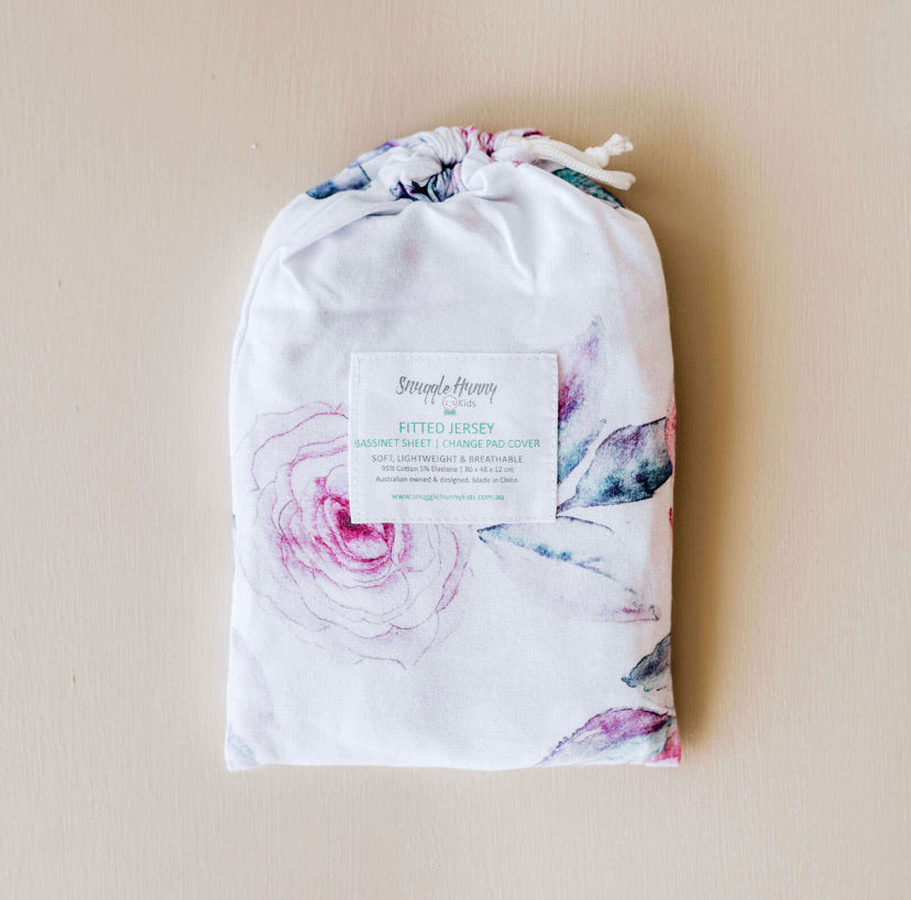 Fitted Bassinet Sheet - Lilac Skies
