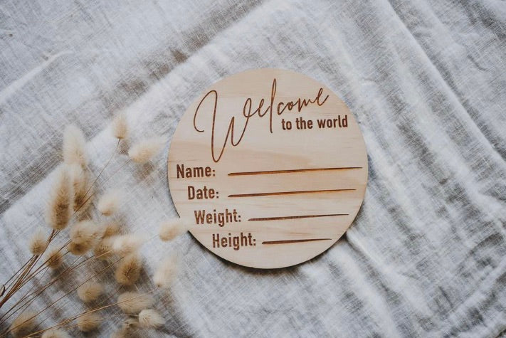 Welcome to The World - Classic - Birth Announcement Disc