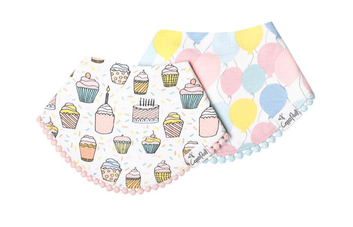 Fashion Bibs (2 Pack) - Celebration