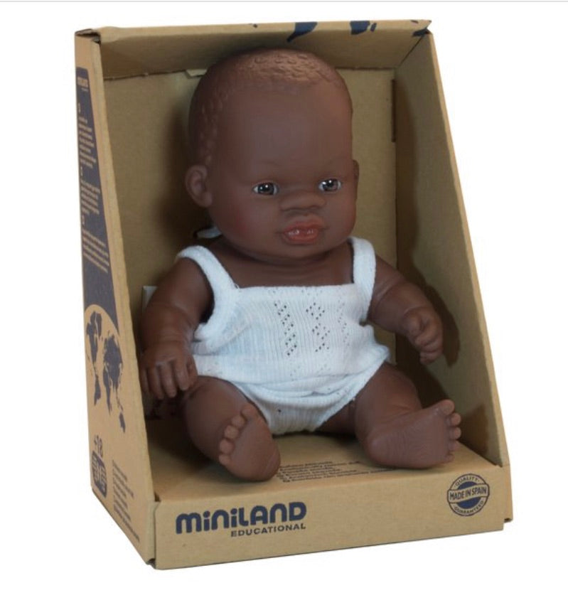 Miniland Doll - African Baby 21cm