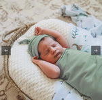 Baby Jersey Wrap and Beanie - Sage