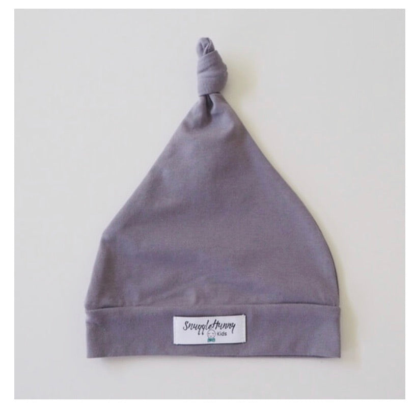 Grey Knotted Beanie