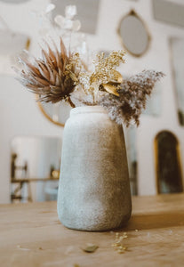 Concrete Vase - grey
