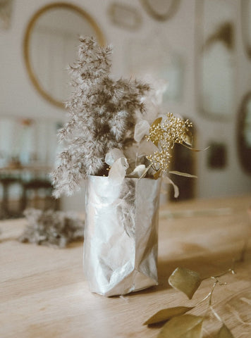 Paper Vase - silver small
