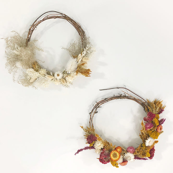 dried floral wreath workshop