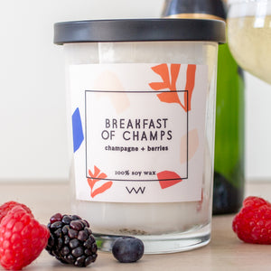 breakfast of champs candle