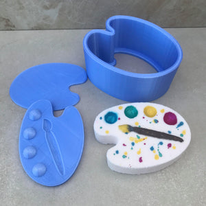 Painter's Palette Bath Bomb Hand Mold