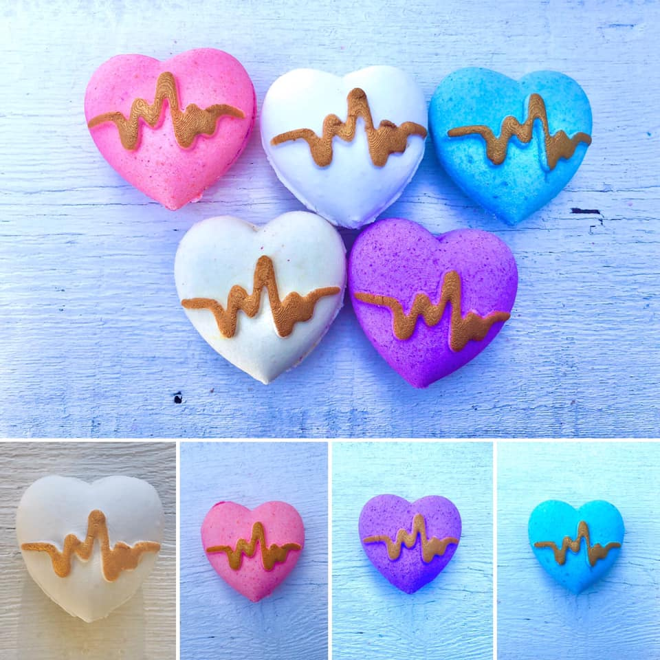 Heartbeat Bath Bomb Hand Mold