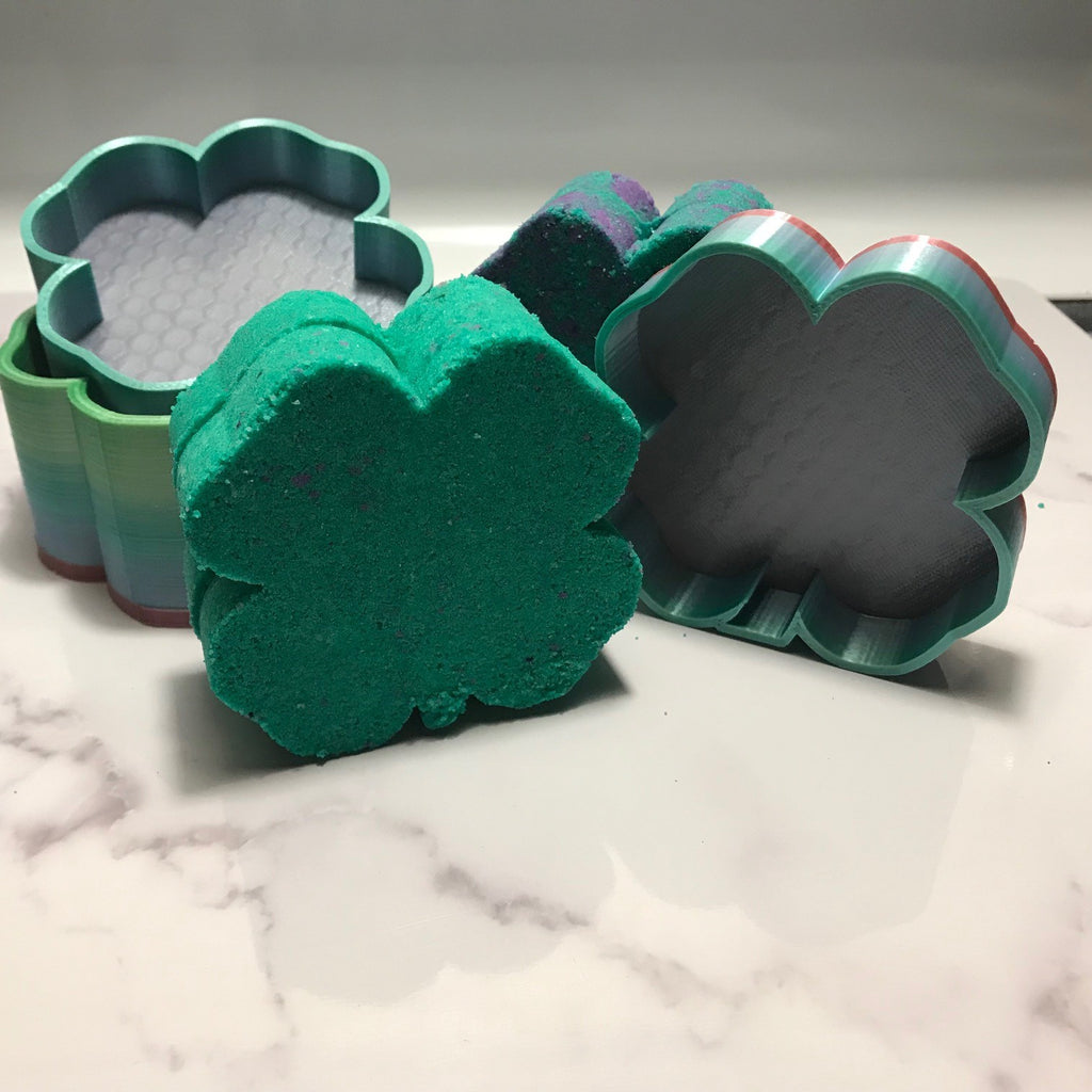 Four Leaf Clover Bath Bomb Hand Mold