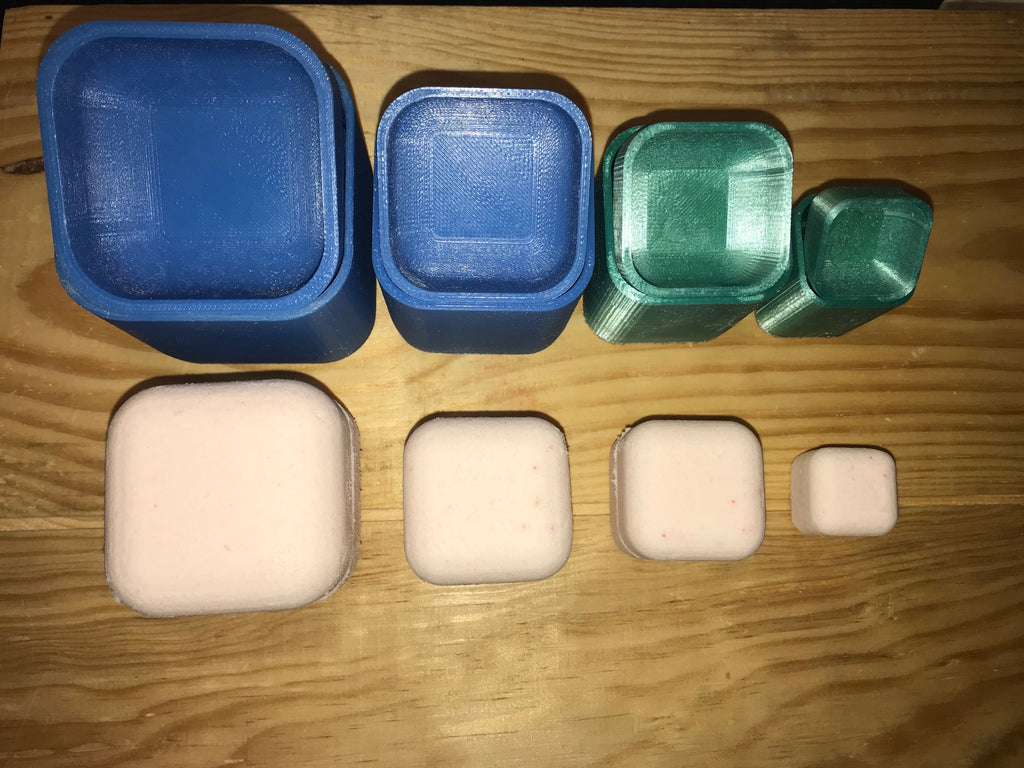 Cube Bath Bomb Press Molds