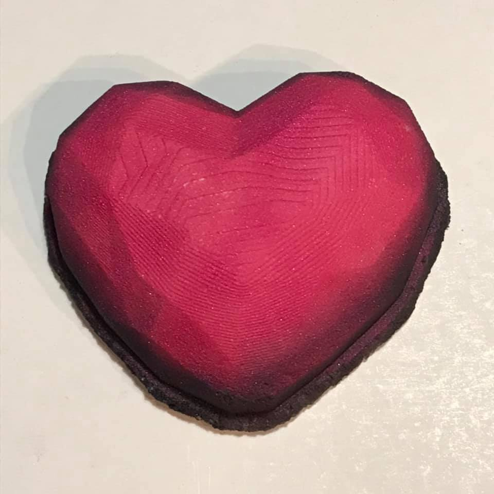 Gem of a Heart Bath Bomb Hand Mold