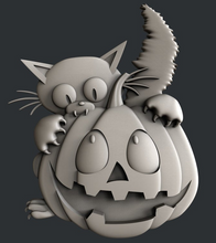 Load image into Gallery viewer, Kitty Pumpkin Bliss Vacuum Form Molds