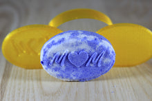 Load image into Gallery viewer, Oval Patterned Bath Bomb Hand Mold (Mom; Treble Clef / Music Symbol; Dollar Sign)