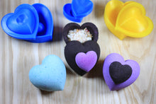 Load image into Gallery viewer, Heart Bombshell Bath Bomb Hand Mold