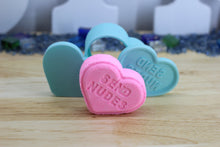 Load image into Gallery viewer, Conversation Hearts Bath Bomb Hand Mold