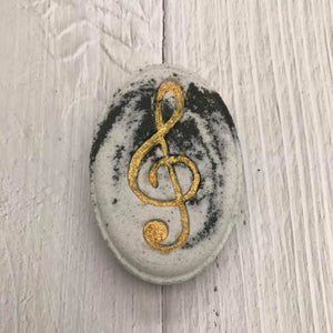 Oval Patterned Bath Bomb Hand Mold (Mom; Treble Clef / Music Symbol; Dollar Sign)
