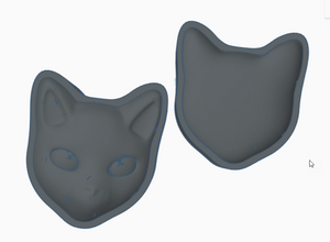 Salem the Cat Bath Bomb Hand Mold
