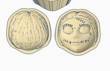 Load image into Gallery viewer, Jack Skellington Bath Bomb Hand Mold