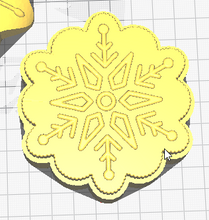 Load image into Gallery viewer, Snowflakes Vacuum Form Molds