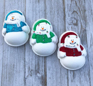 Winter Snowman Bath Bomb Hand Mold