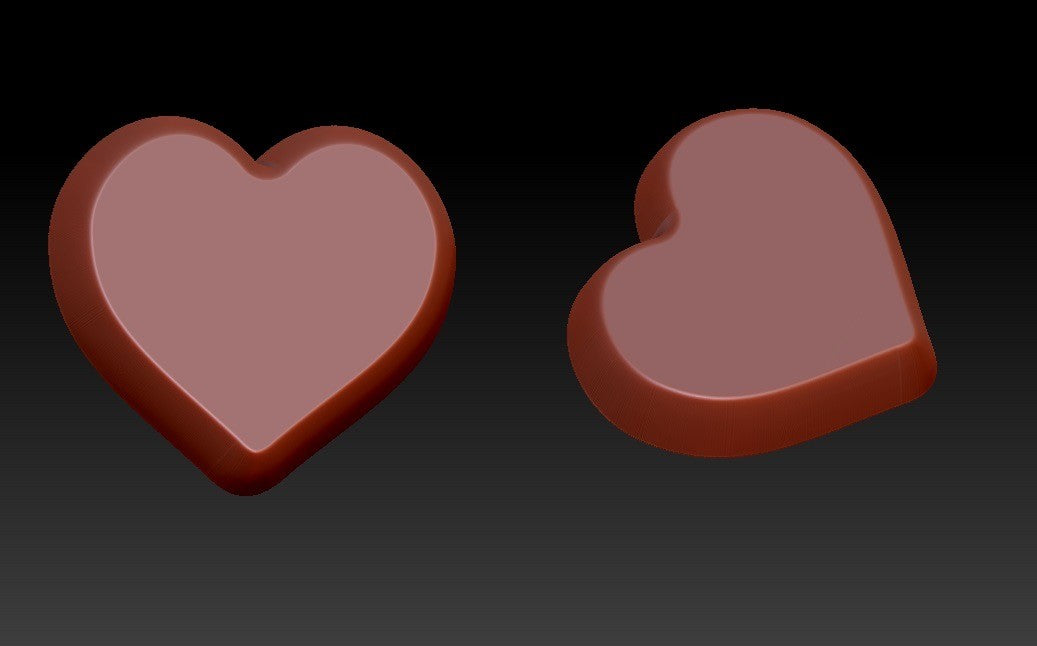 Mini Heart Vacuum Form Molds