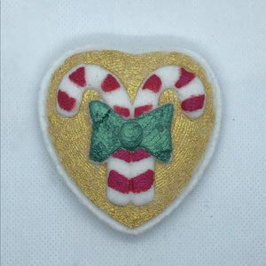 I ♥ Candy Canes Bath Bomb Hand Mold
