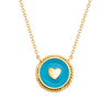 Sky Blue Heart Compass
