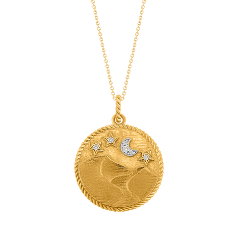 Desertscape Medallion On Chain
