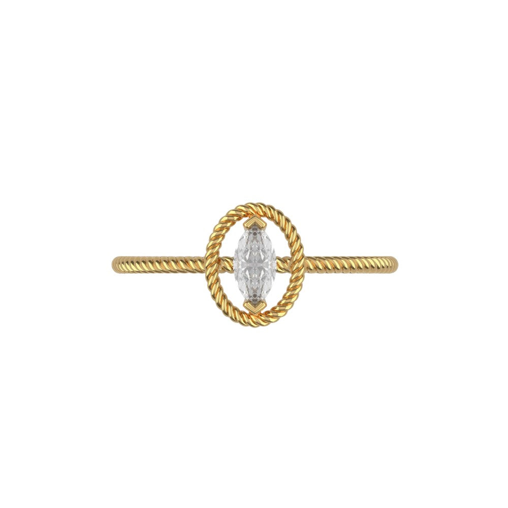 Solitaire Marquise Rope Band