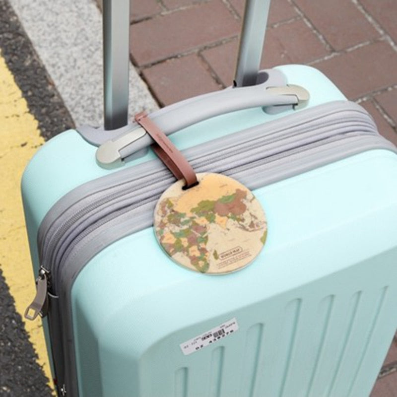 Fashion Map Luggage Tag Women Travel Accessories Silica Gel Suitcase ID Address Holder Baggage Boarding Tag Portable Label Bag