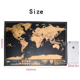 【LARGE/ MINI】World Map Travel Scratch Wall Decoration