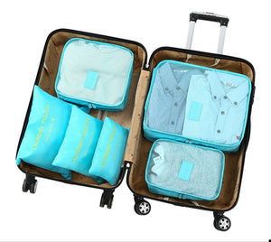Travel Cubes Set- 6 Pieces Multiple Colors